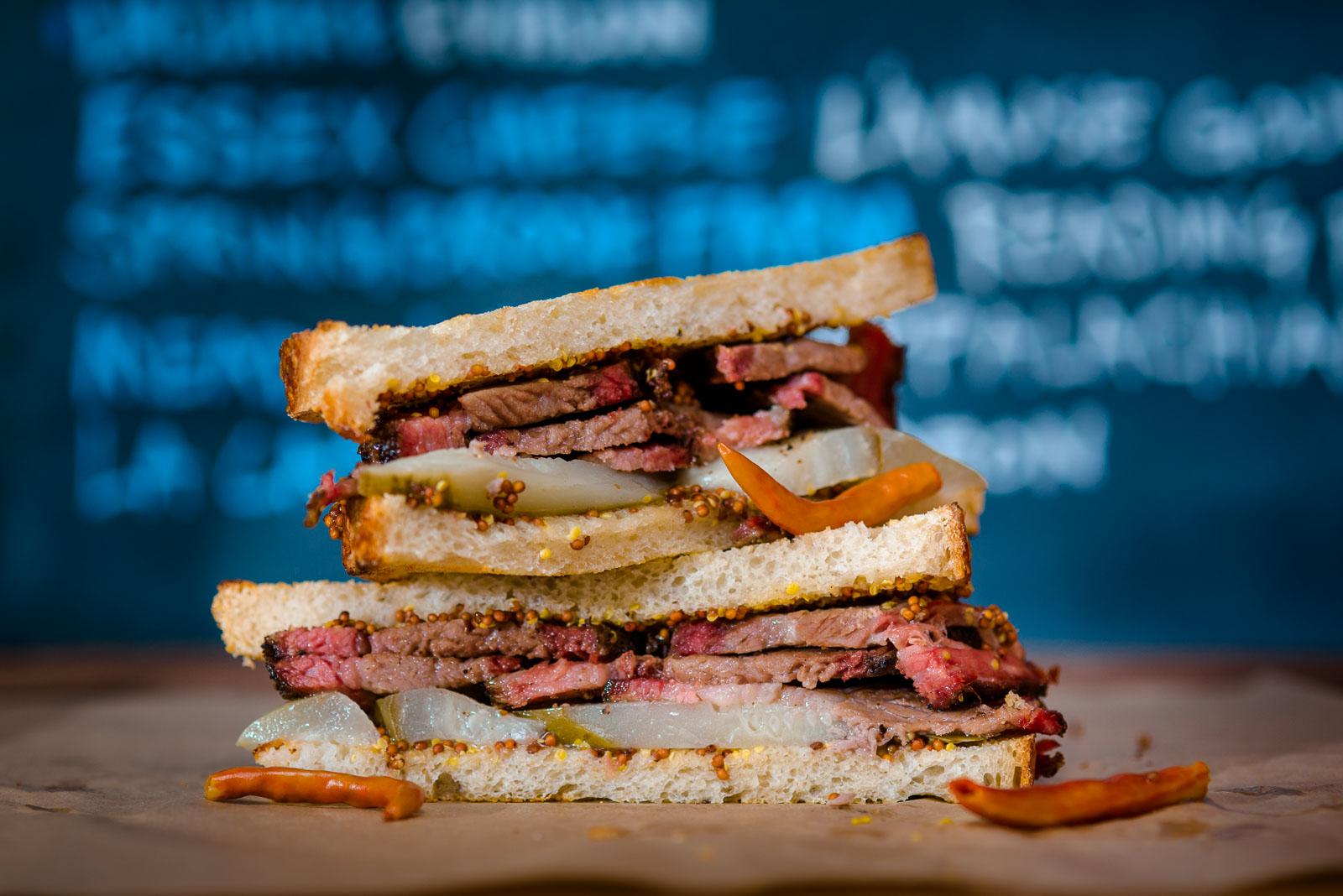 brisket sandwich at the Underground Butcher shop in Madison Wisconsin