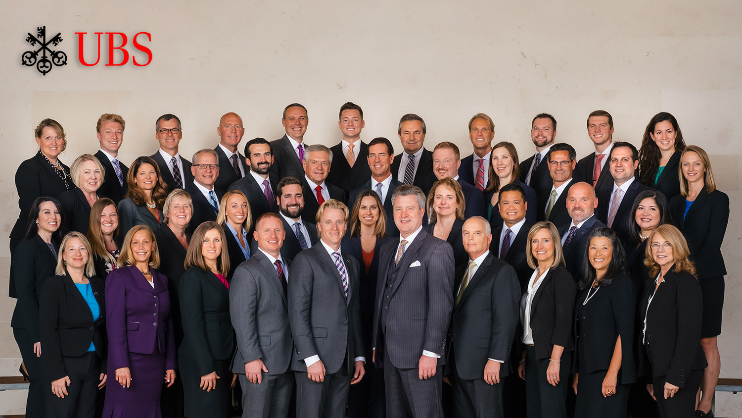 UBS Madison Wisconsin business team photo in Overture Center for the Arts