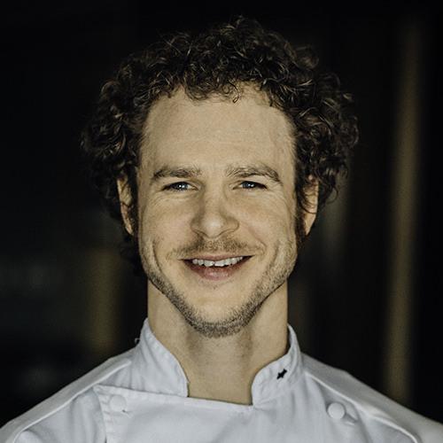 portrait of Chef Dan Fox in his restaurant in Madison, Wisconsin