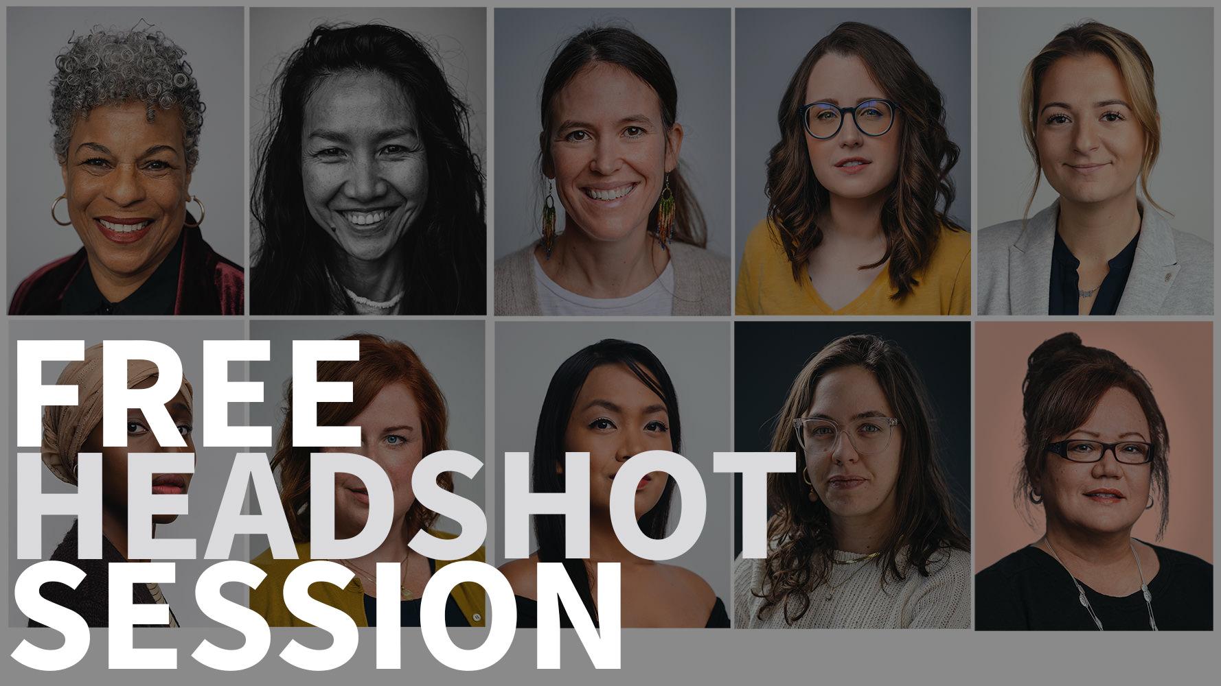 Free professional women's headshots