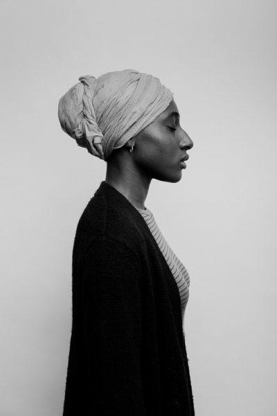 High school senior portrait of African American